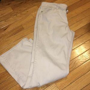 Cream Lei Flare Pants